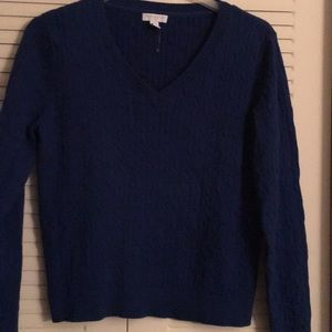Beautiful Royal Blue Cable knit sweater..NWOT